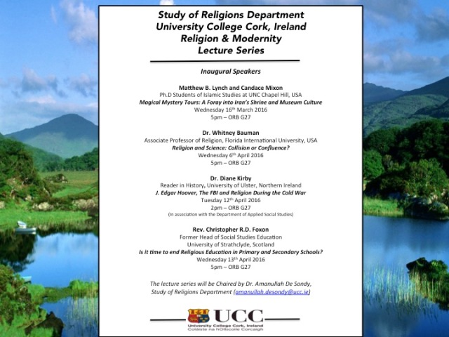 UCC Religion and Modernity Lecture Series